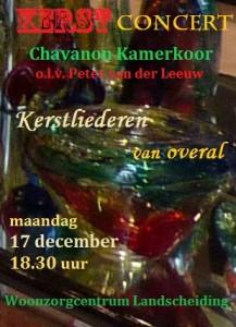 Poster Kerstconcert Landscheiding